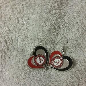 Alabama crimson tide football earrings